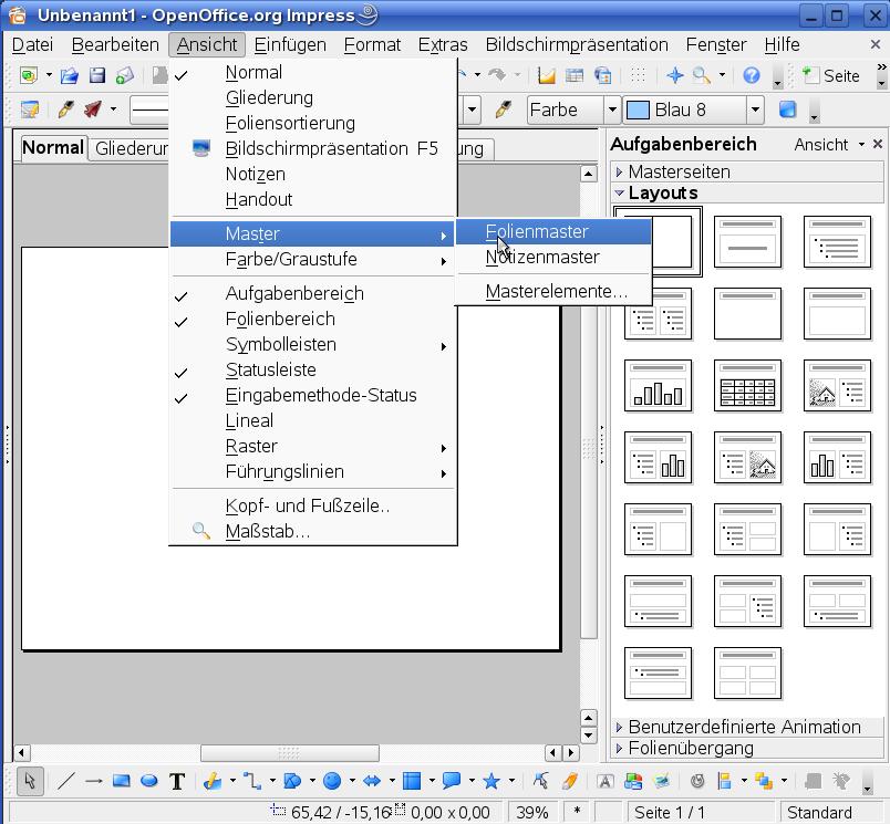 Openoffice hilfe und tutorial - Open office impress templates ...